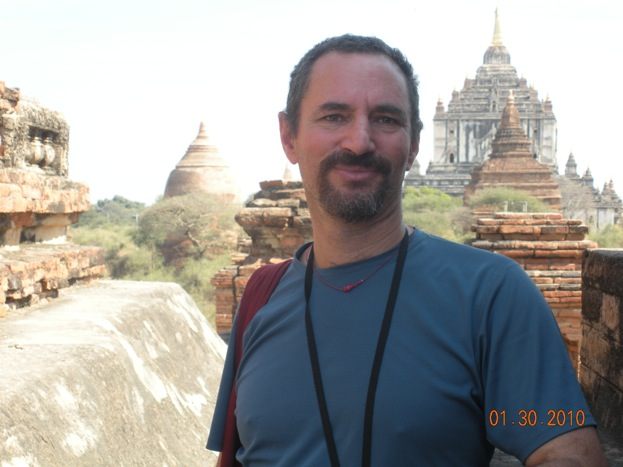 manny with Bagan temples