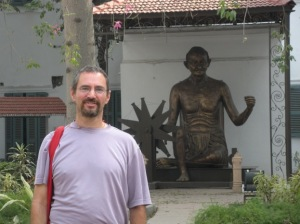Manny with Gandhi